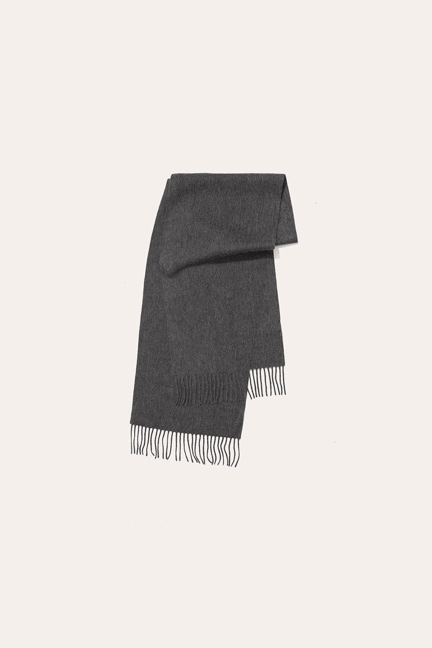 Menswear | Small Wool Scarf, Charcoal