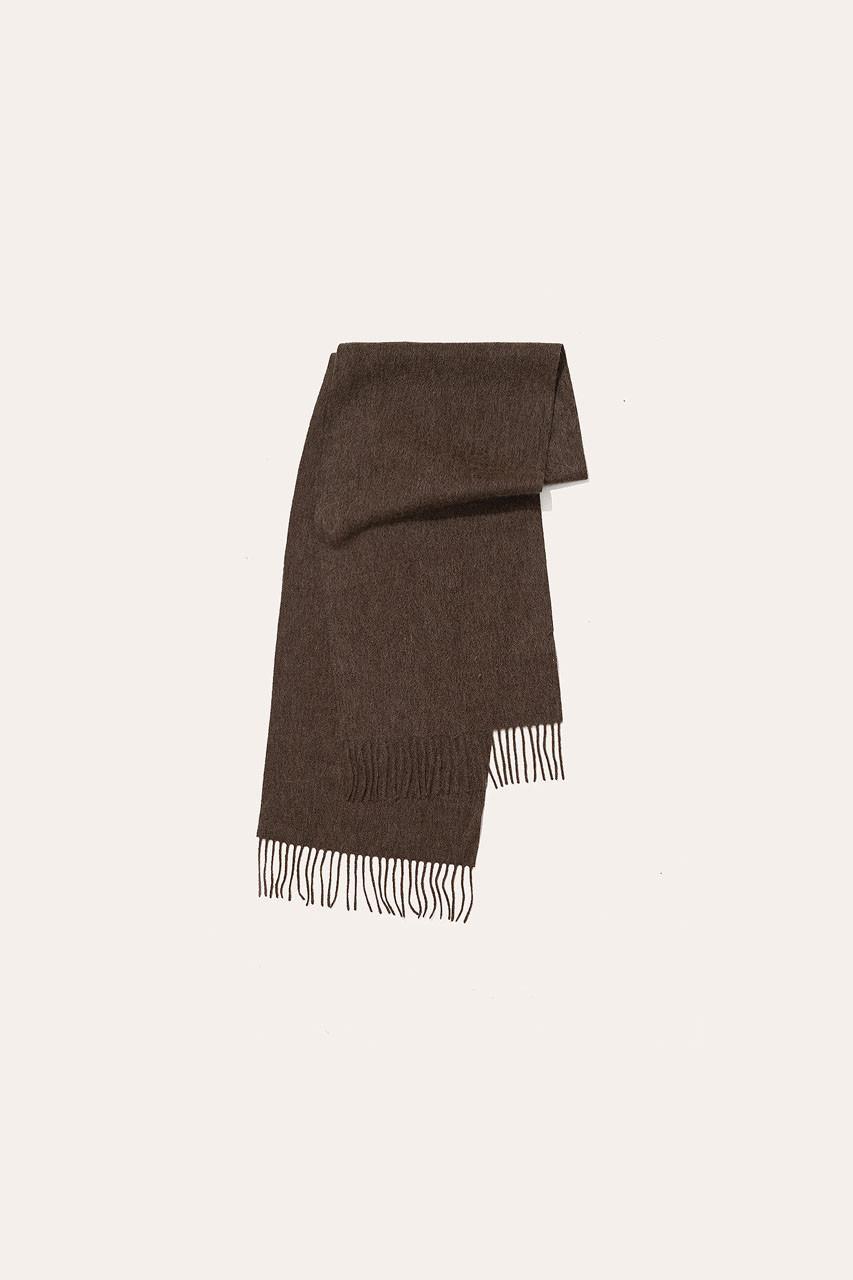 Menswear | Small Wool Scarf, Chestnut Marl