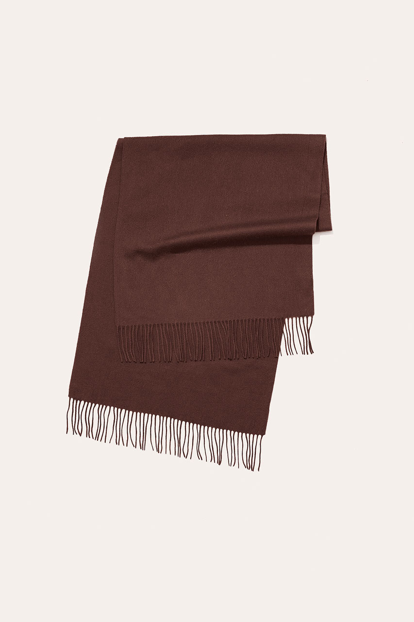 Menswear | Large Wool Scarf, Chestnut