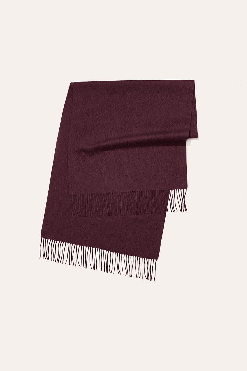 Menswear | Large Wool Scarf, Wine