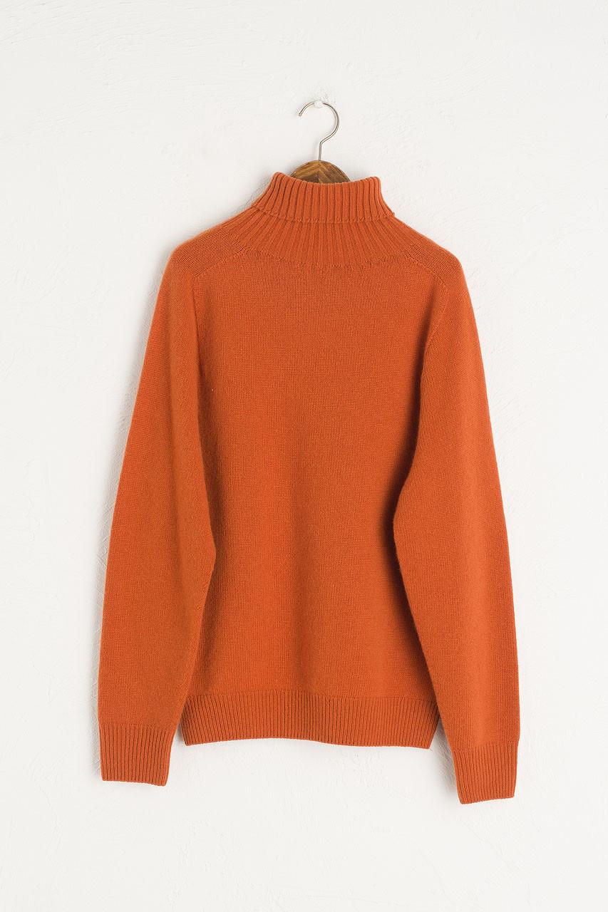Seamless Roll Neck Jumper, Warm Orange