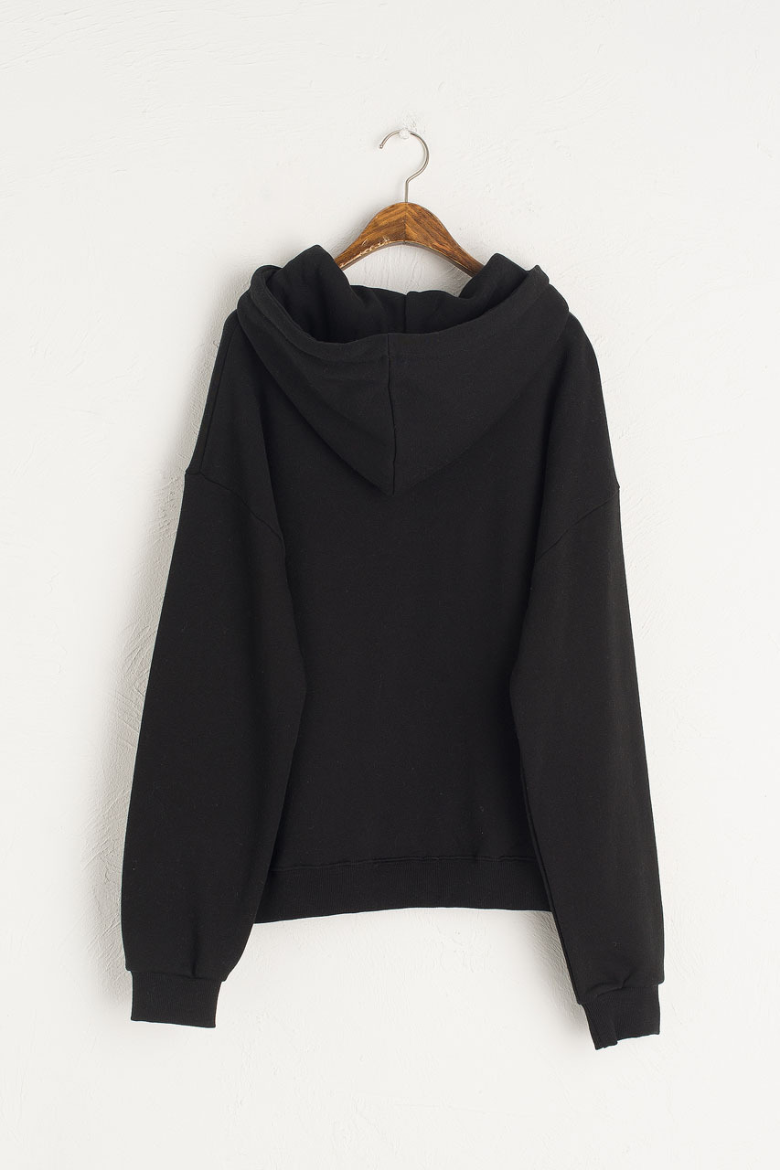 Lisette Fleece Hoody, Black