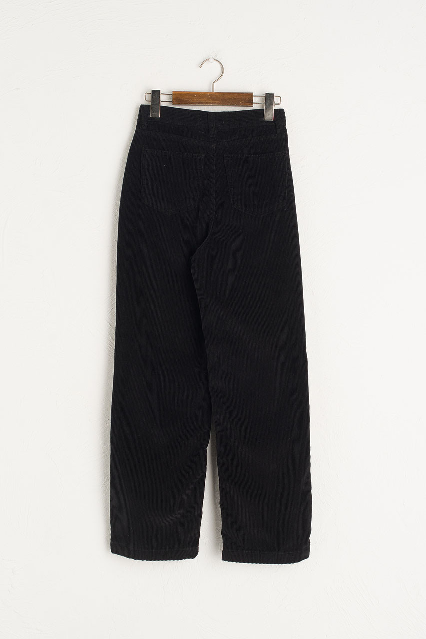 Maco Cord Pants, Black