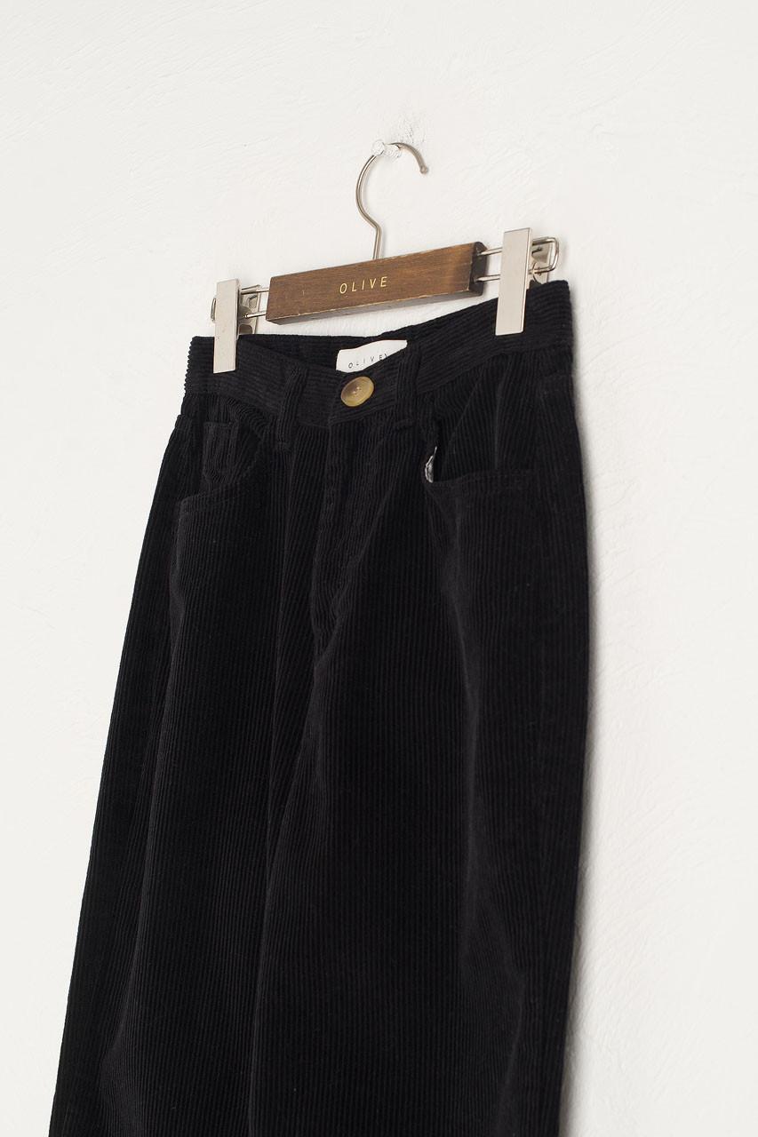 Maco Cord Pants, Black