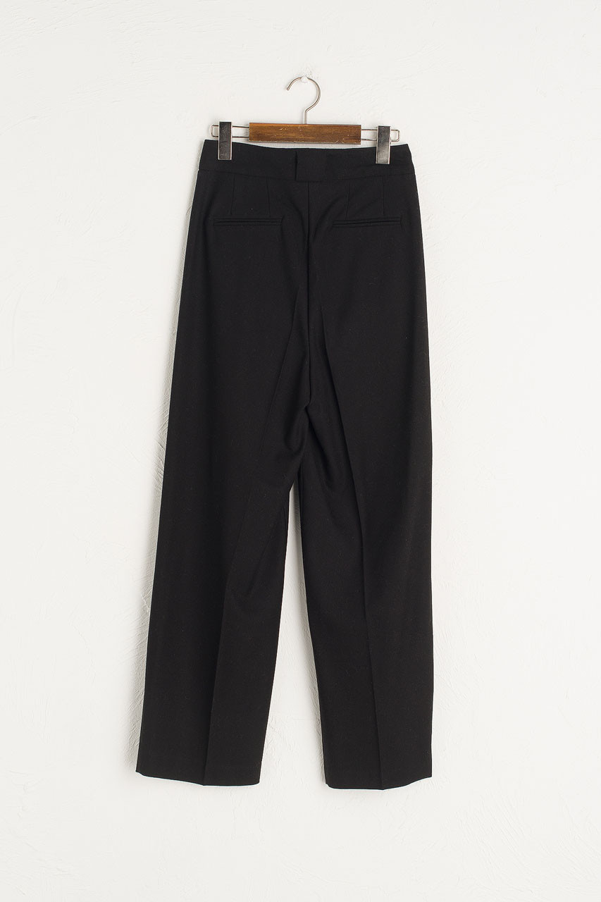 Iva Pintuck Trousers, Black