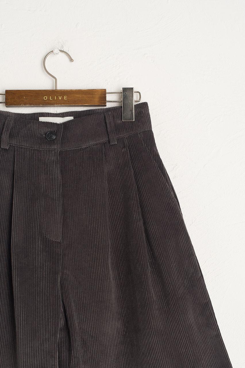 Boxy Cord Short, Charcoal