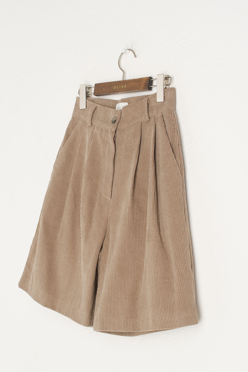 Boxy Cord Short, Beige