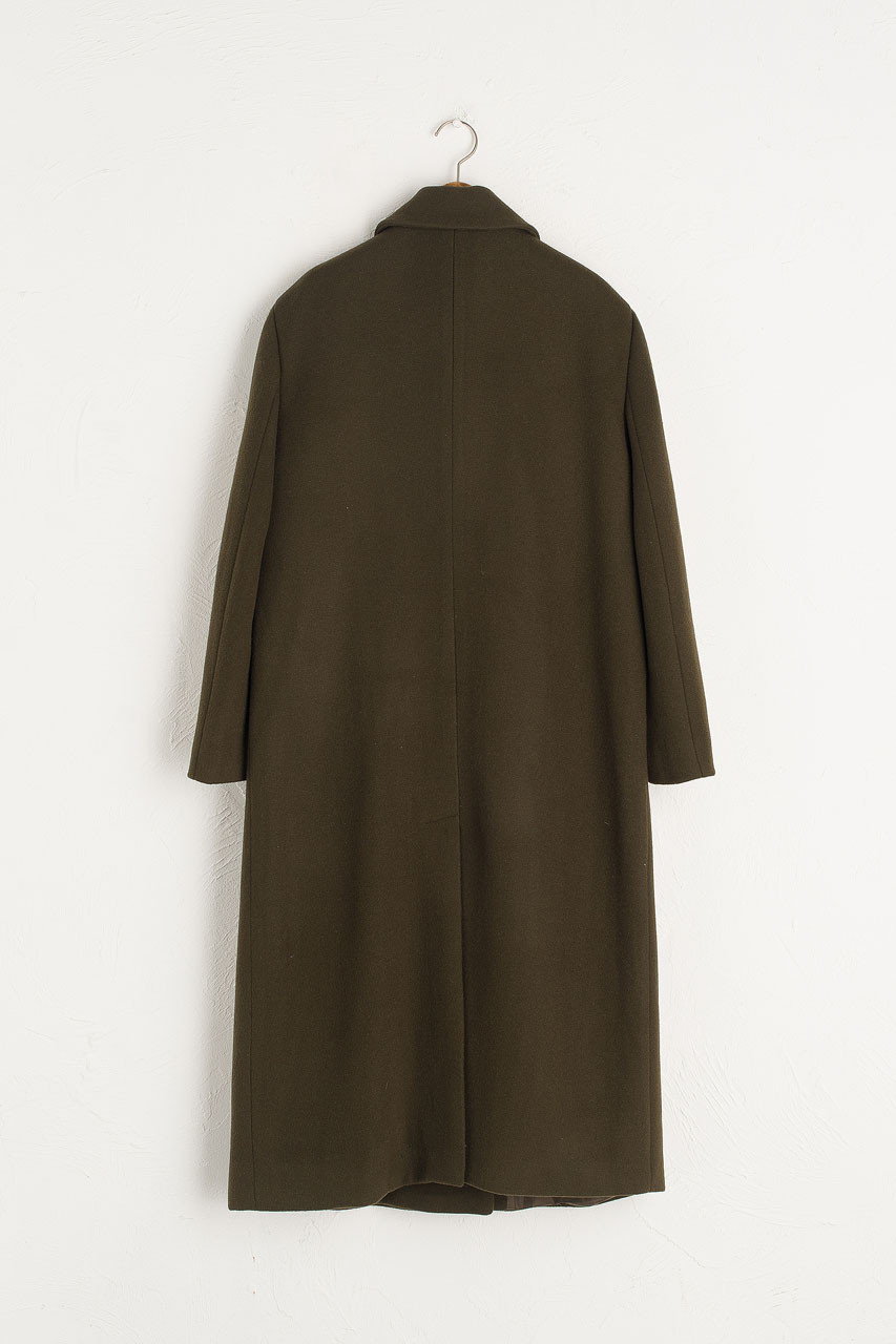 Nadine Long Wool Coat, Khaki