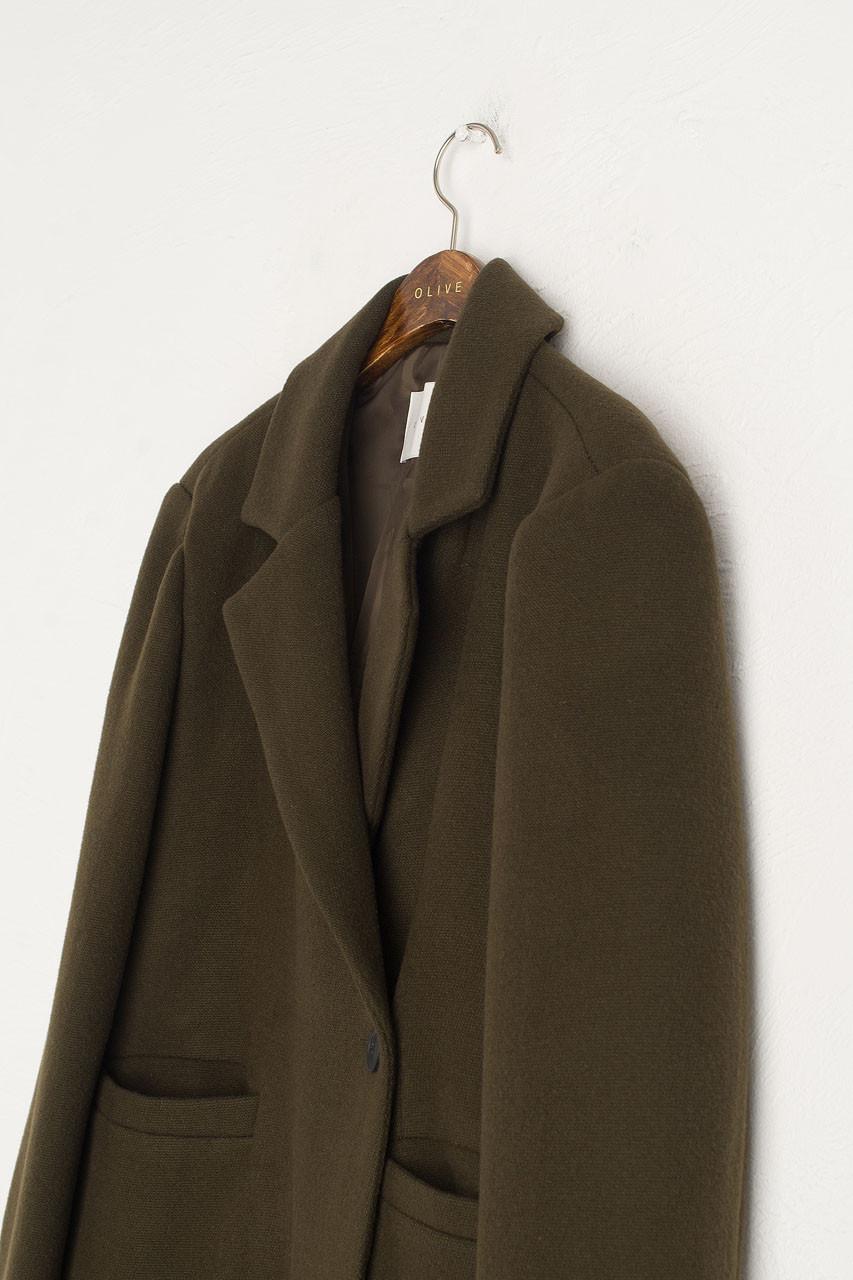 Nadine Long Wool Coat, Khaki