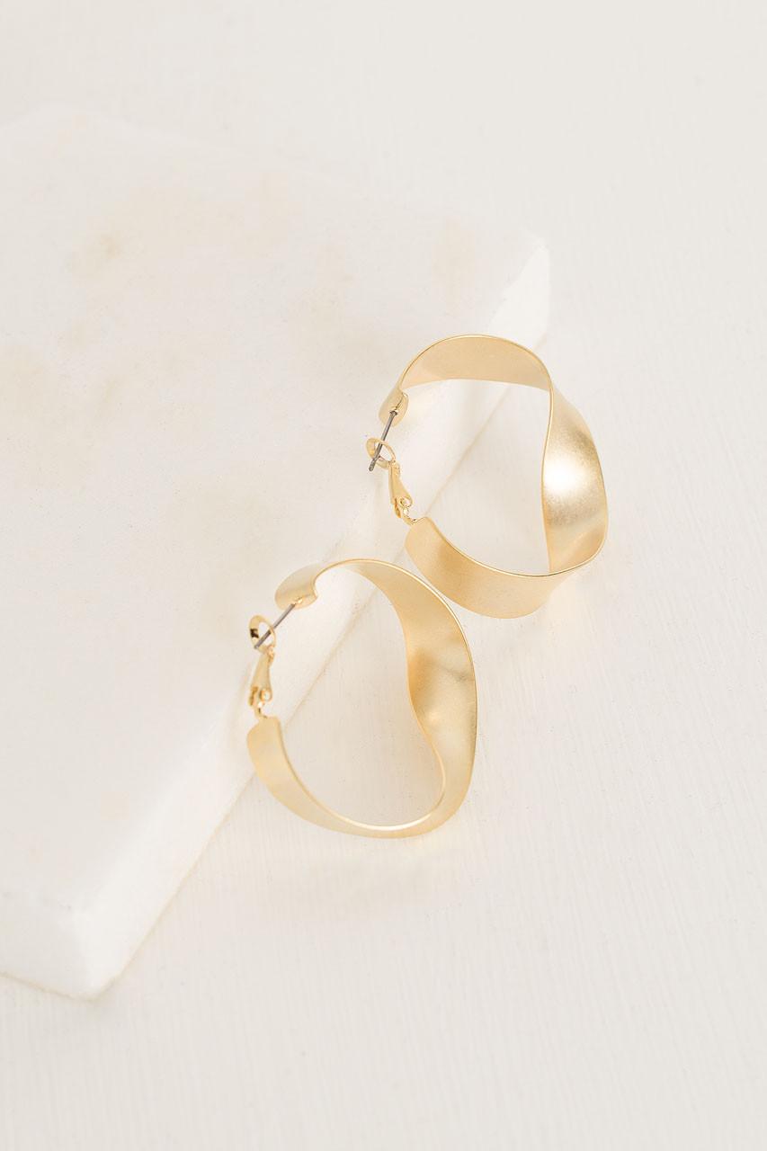 Infinity Loop Earrings, Gold Plated