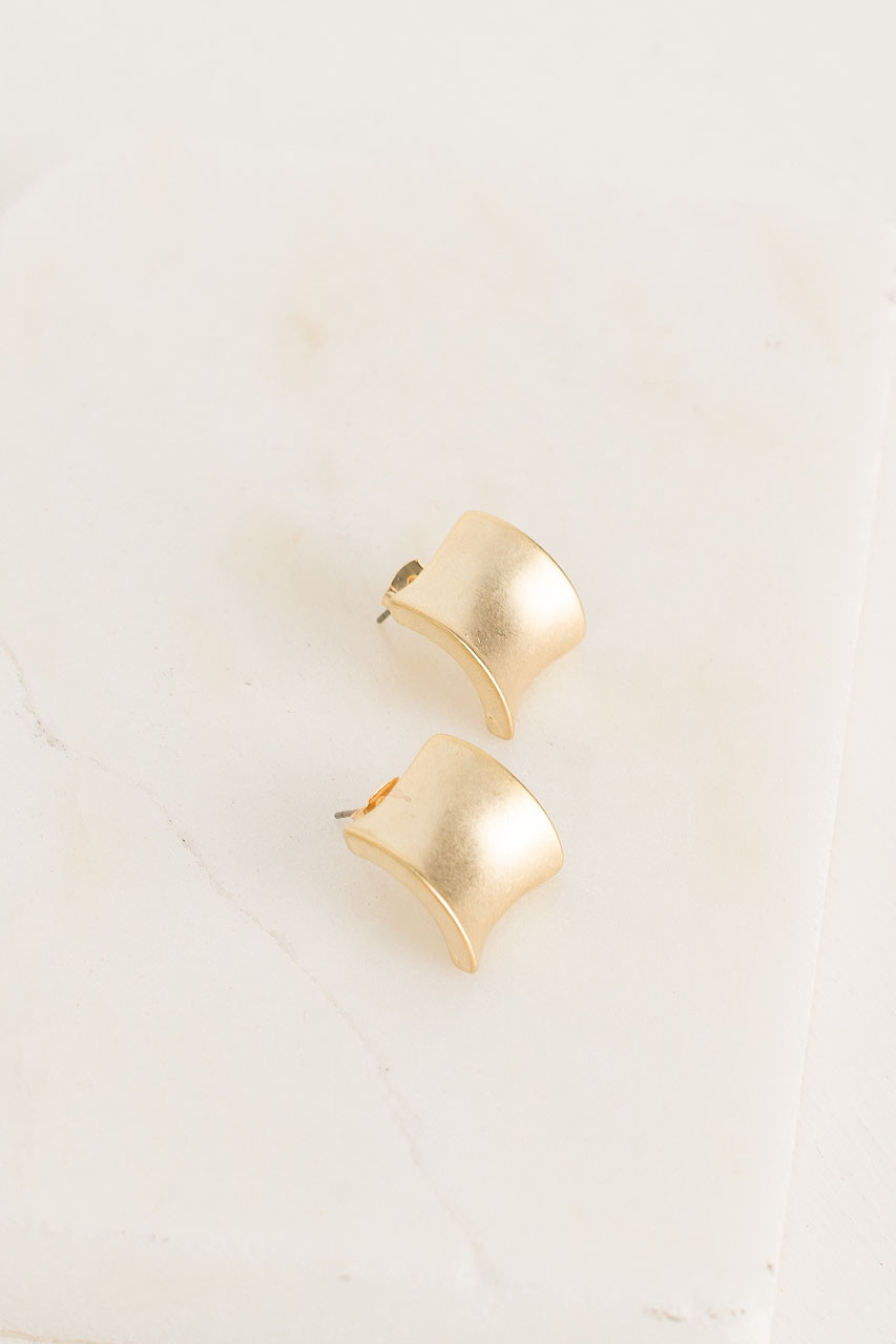 Maddie Earrings, Gold Plated