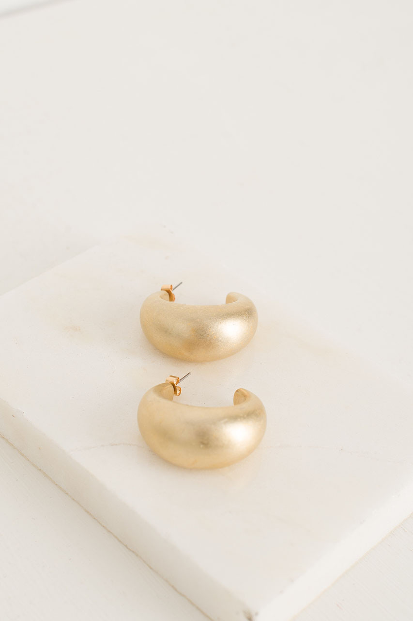Knowles Hoop Earrings, Gold Plated