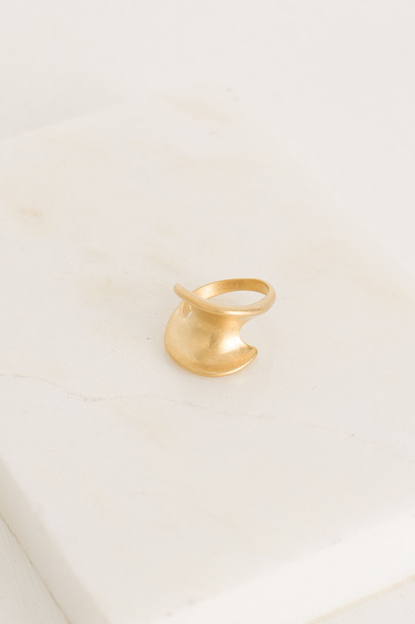 Knowles Ring, Gold Plated