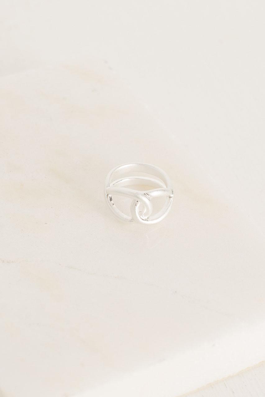 Dora Loop Ring, Silver Plated