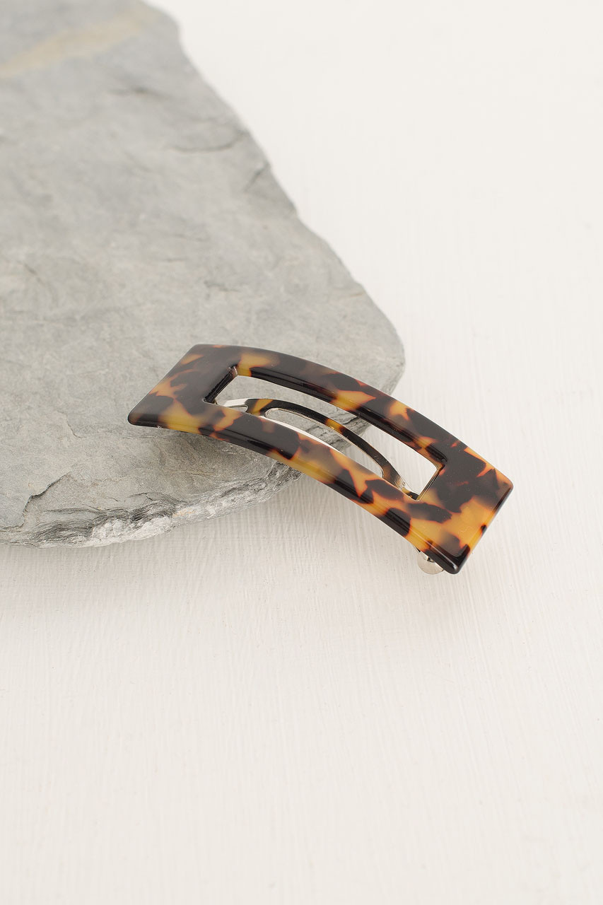 Molly Square Hair Pin, Brown Tortoise Shell