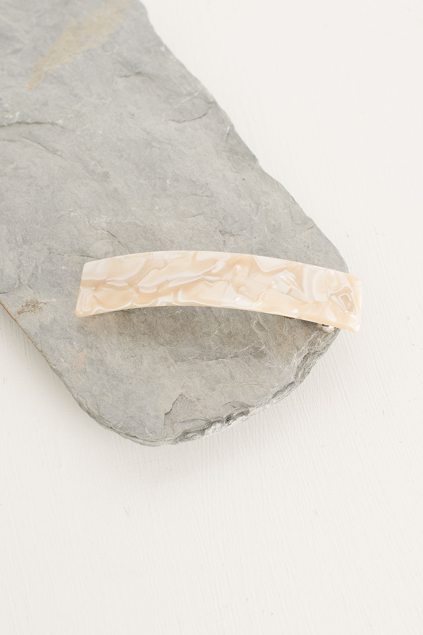 Holly Square Hair Pin, Ivory Tortoise Shell