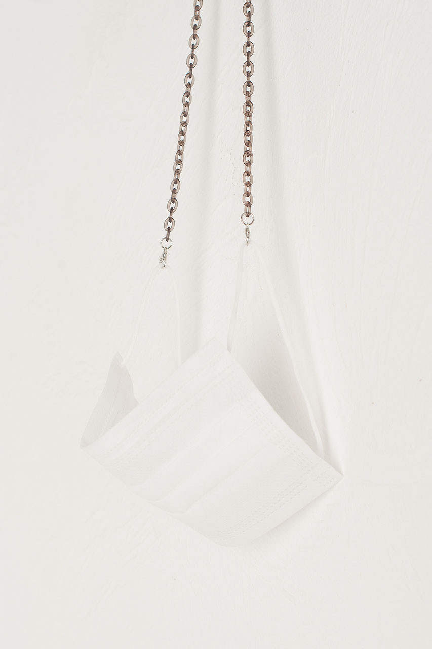 Iris Chain Mask Holder, Transparent Black
