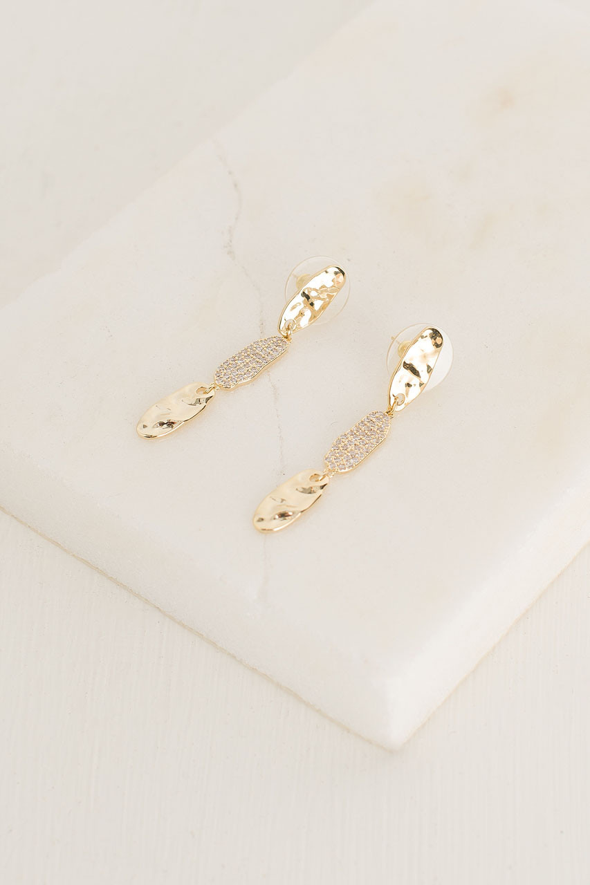 Willow Drop Earrings, Gold Plated