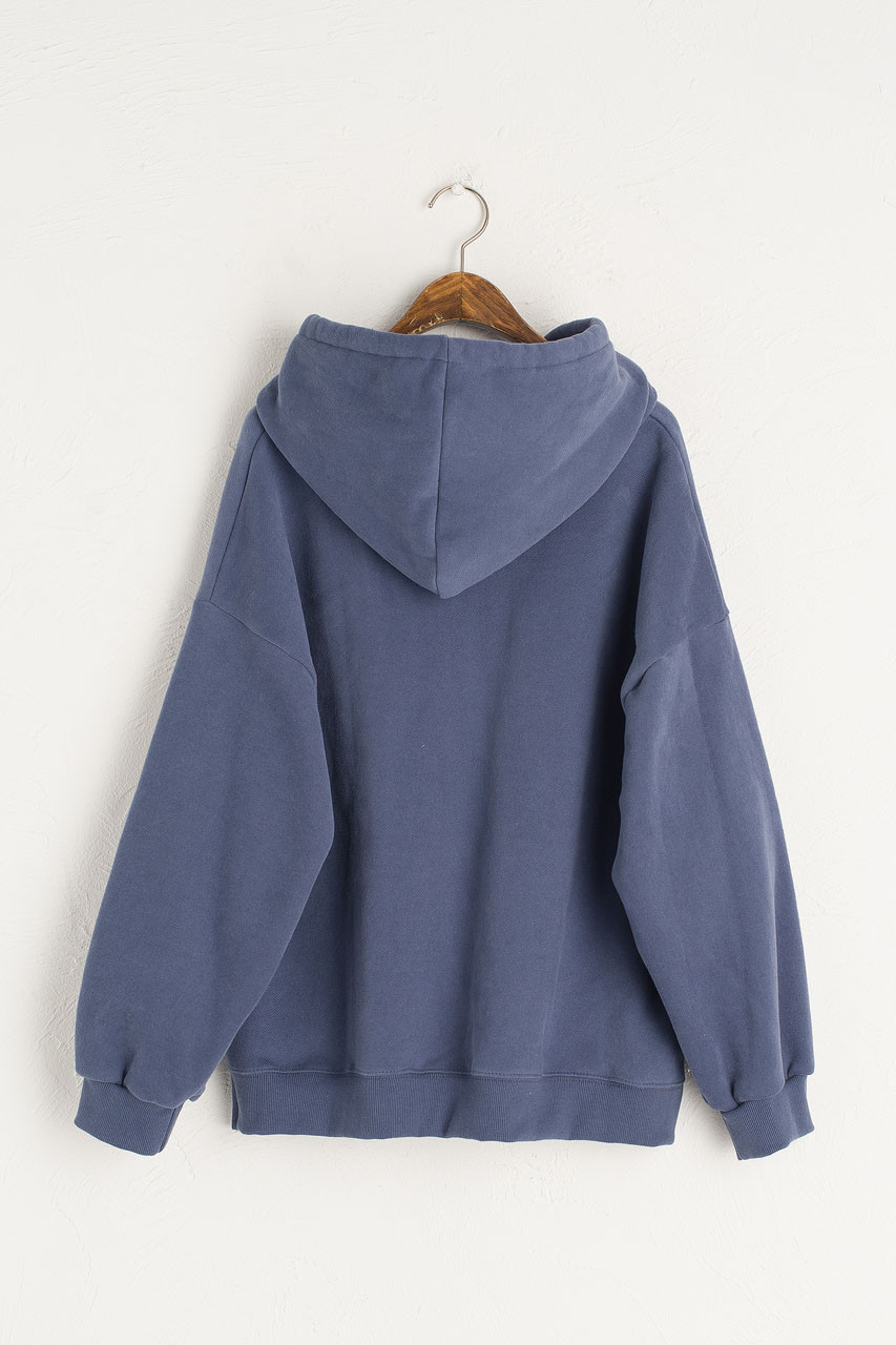 Anna Fleece Hoody, Mid Blue