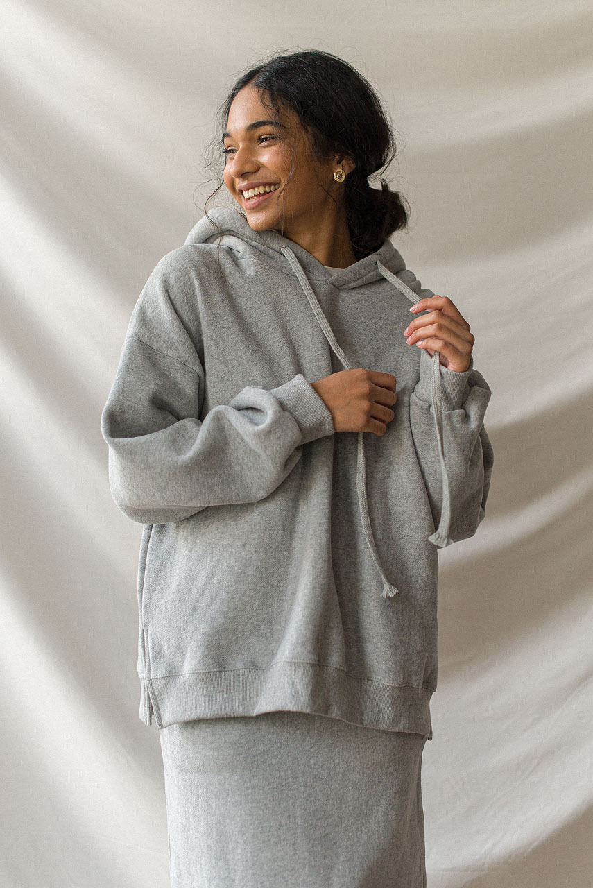 Anna Fleece Hoody, Grey