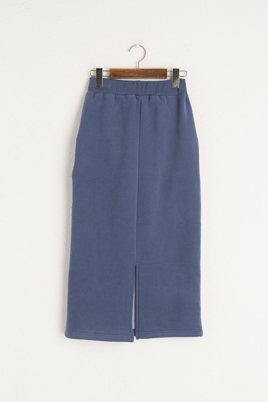 Anna Fleece Skirt, Mid Blue