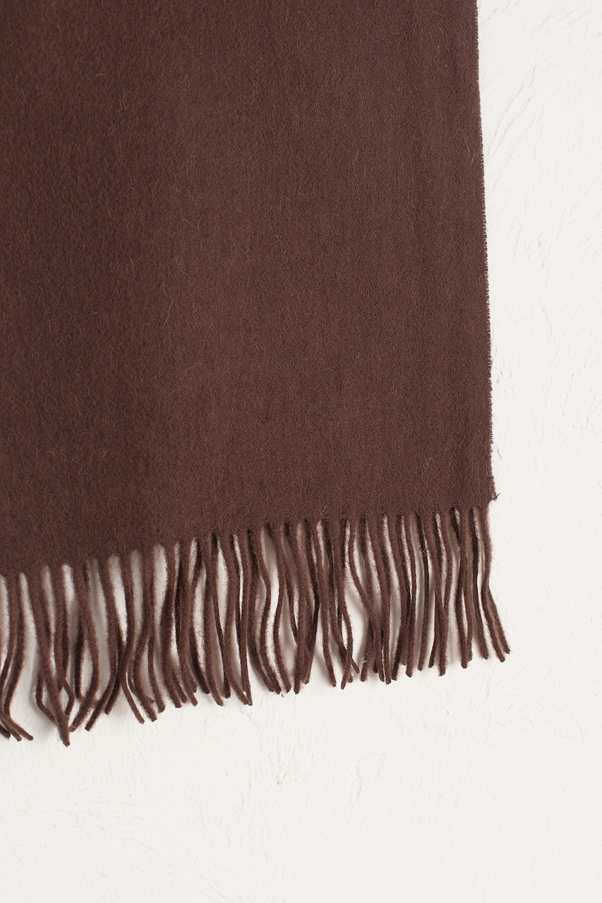 A/W Mini Wool Scarf, Brown
