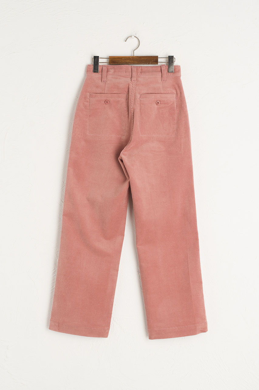 Claudia Simple Cord Pants, Pink