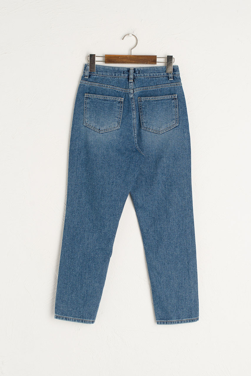 Simple Straight Jean, Mid Blue