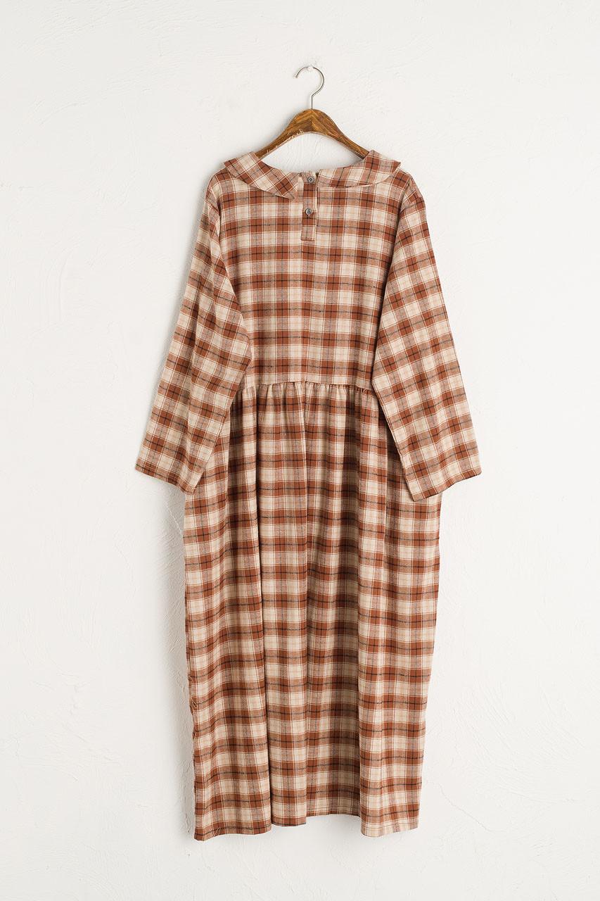 Sophia Boxy Check Dress, Brown