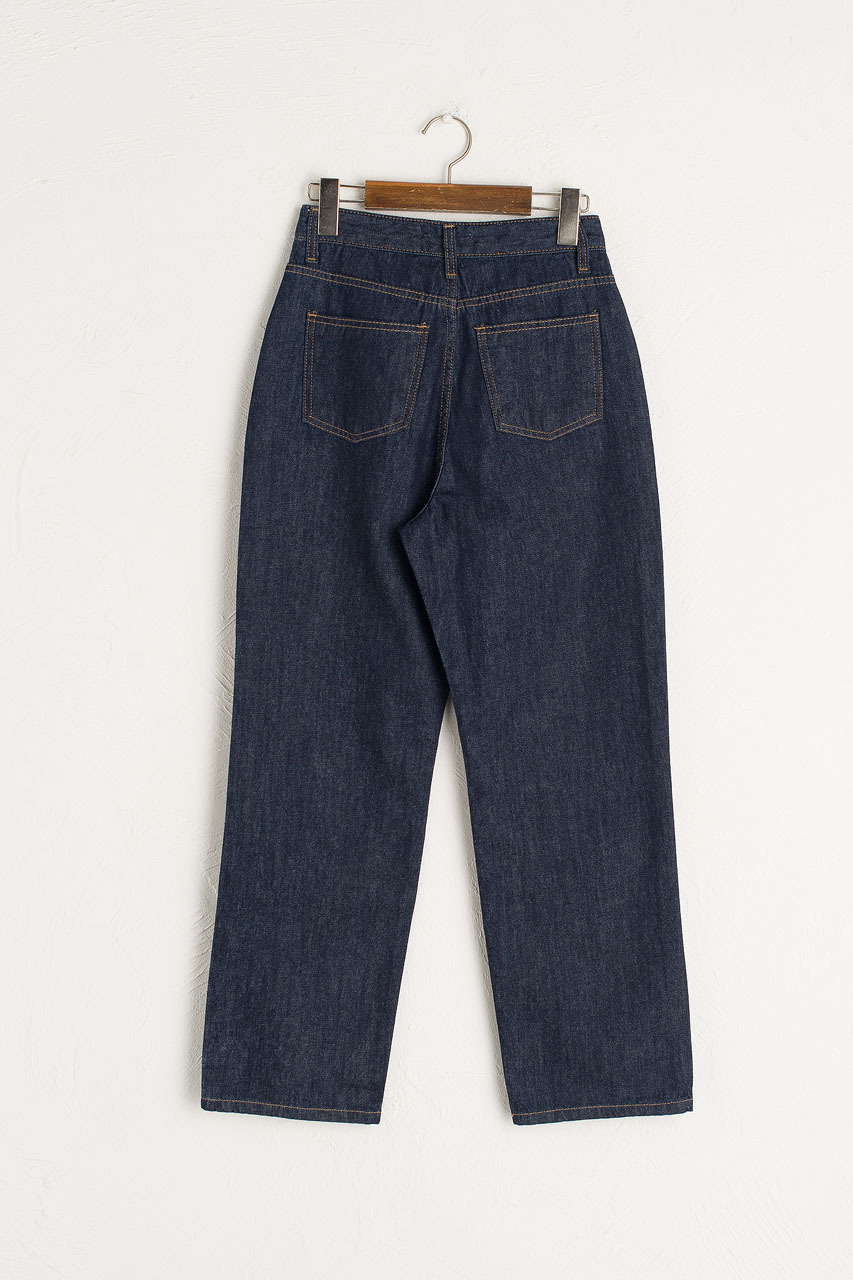 Indigo Straight Denim Jean, Indigo