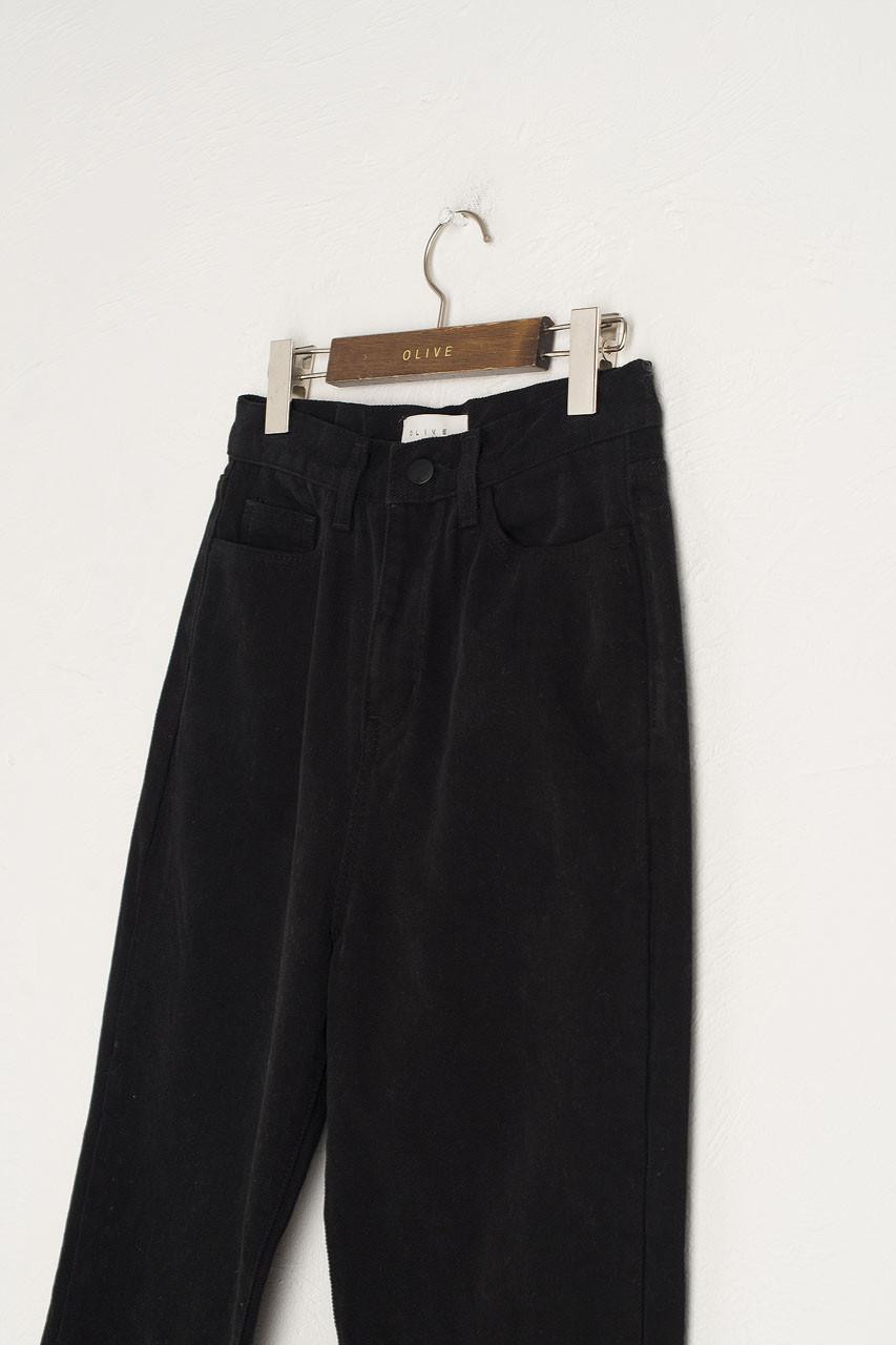 Moa Washed Straight Denim Jean, Black