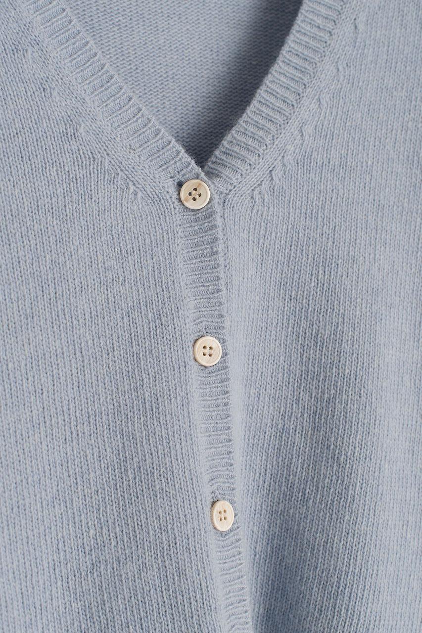 V Neck Soft Crop Cardigan, Blue