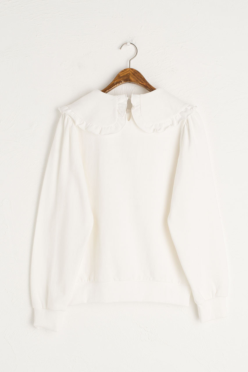 Wild Daisy Embroidered Sweatshirt, Ivory