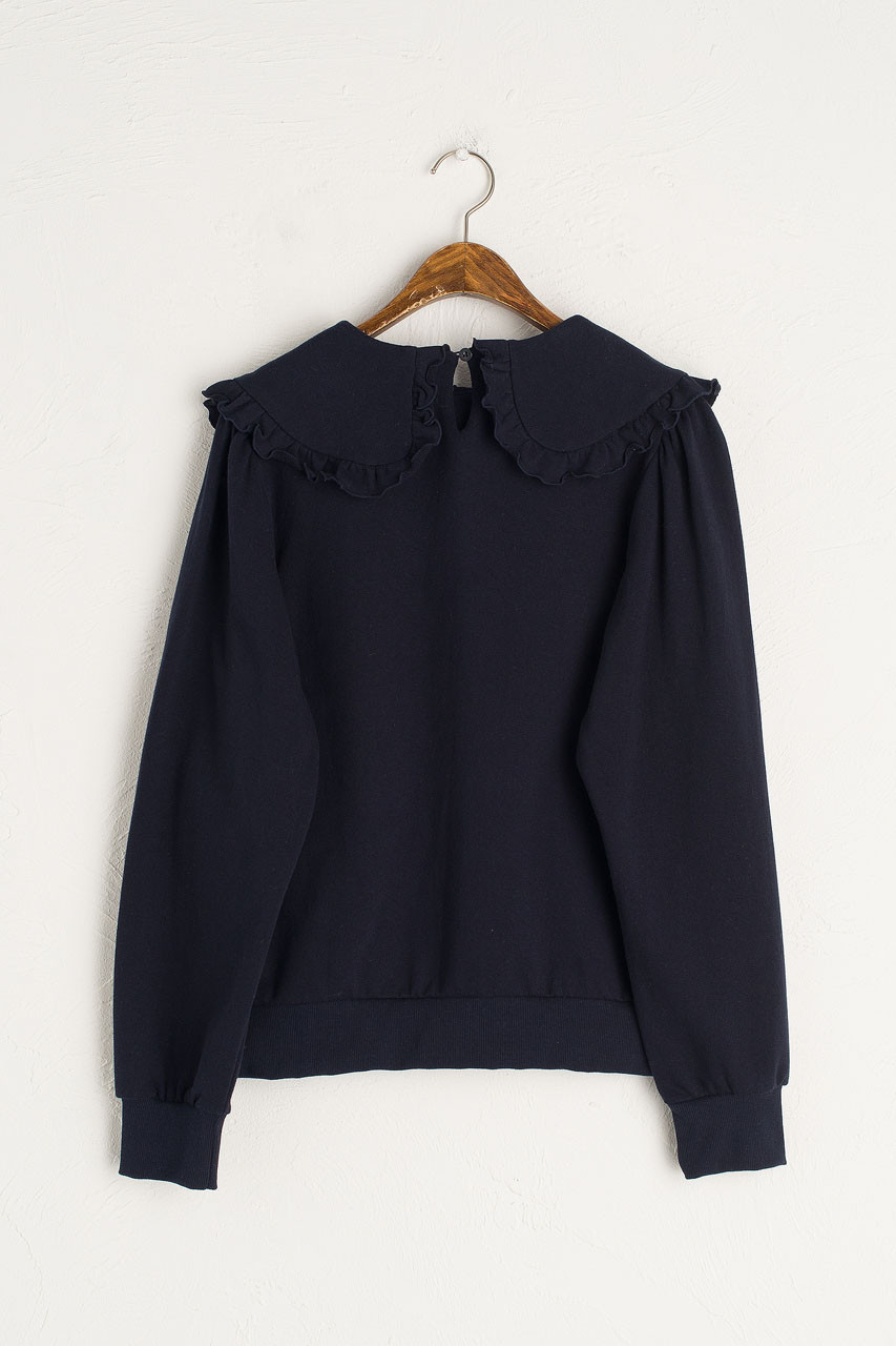 Wild Daisy Embroidered Sweatshirt, Navy
