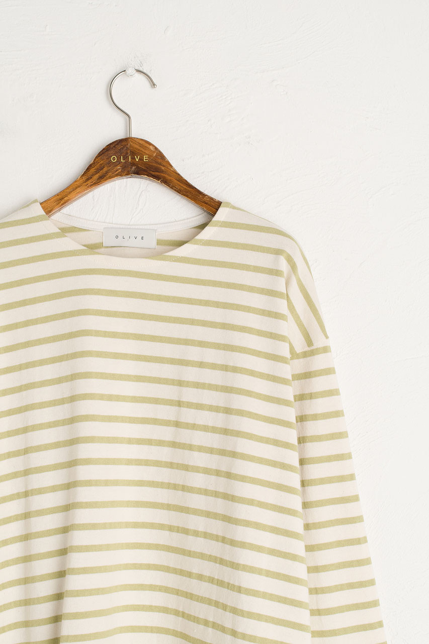 Sophie Stripe Tee, Lime