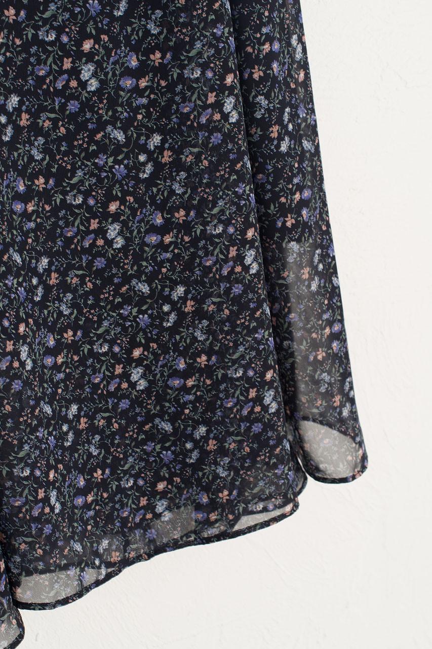 Sana Floral Print Skirt, Navy