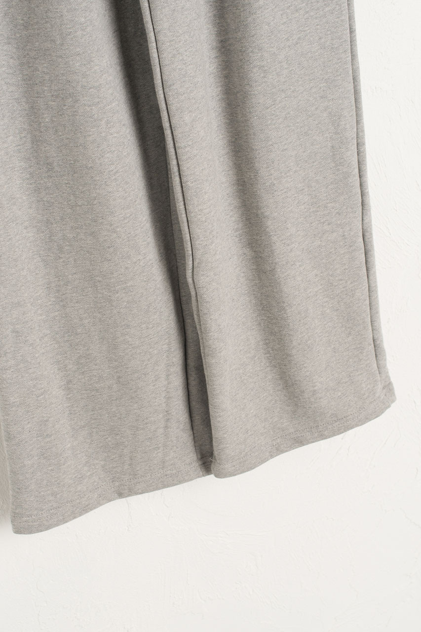 Wide Cotton Training Trousers, Grey