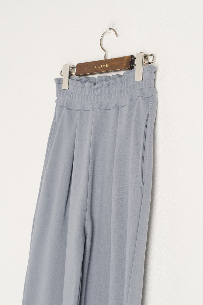Wide Cotton Training Trousers, Blue