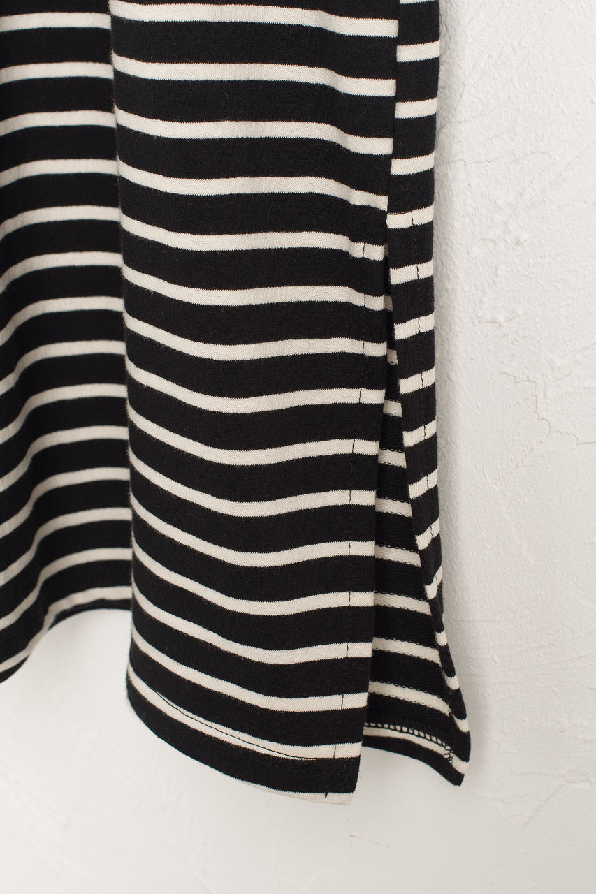 Oversized Stripe Maxi Dress, Black