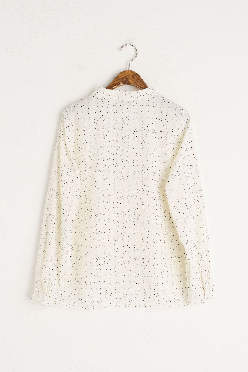 Constellation Mini Collar Blouse, Ivory