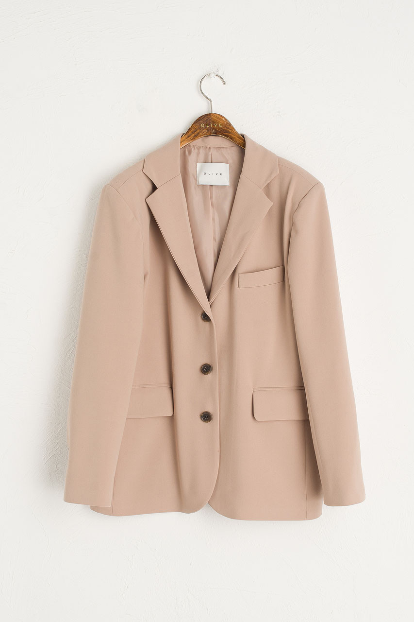Roa Structured Jacket, Beige