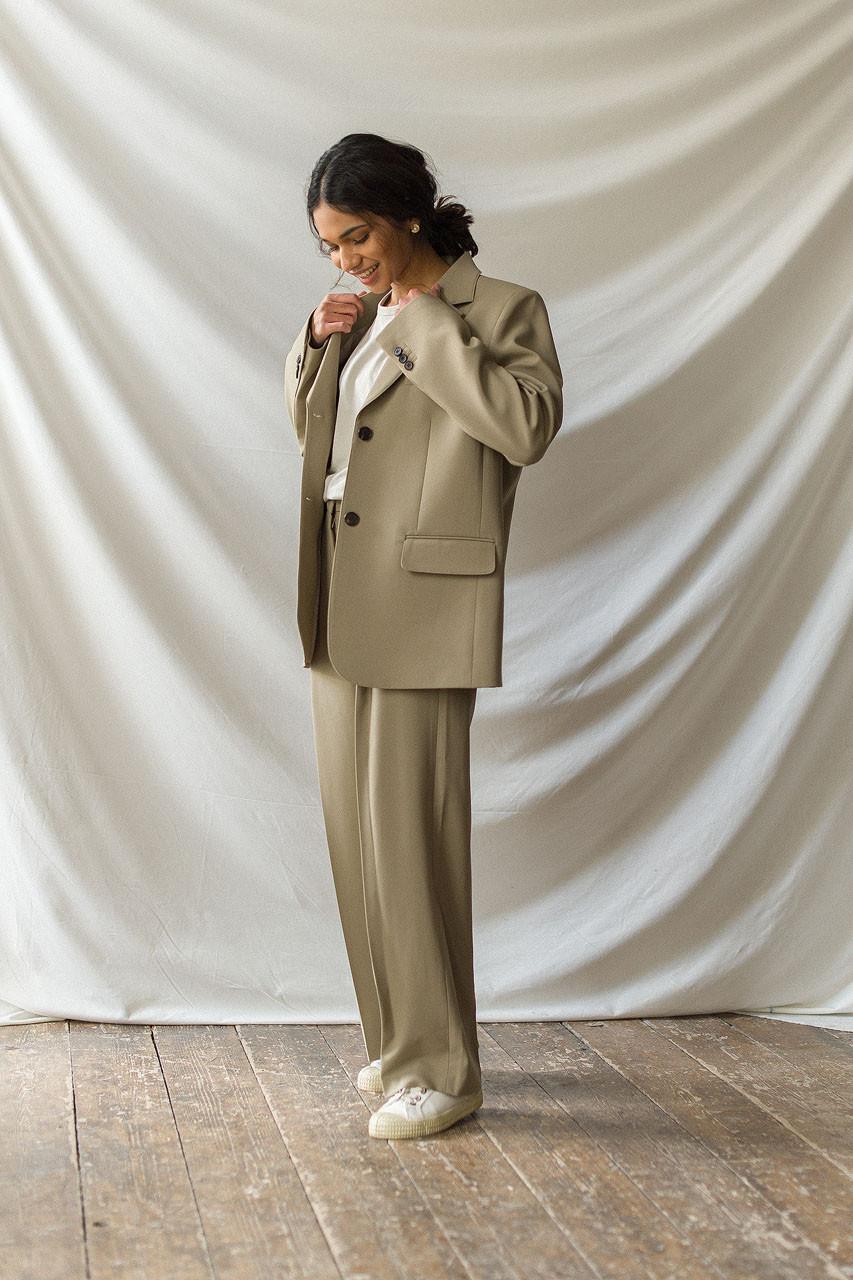 Darcey Simple Jacket, Beige