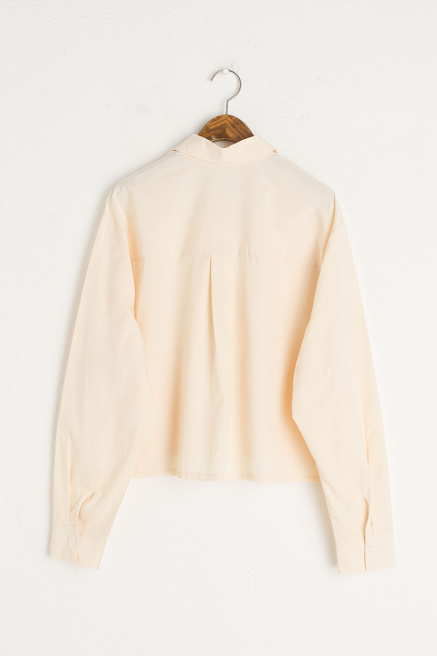 Dana Crop Simple Shirt, Butter