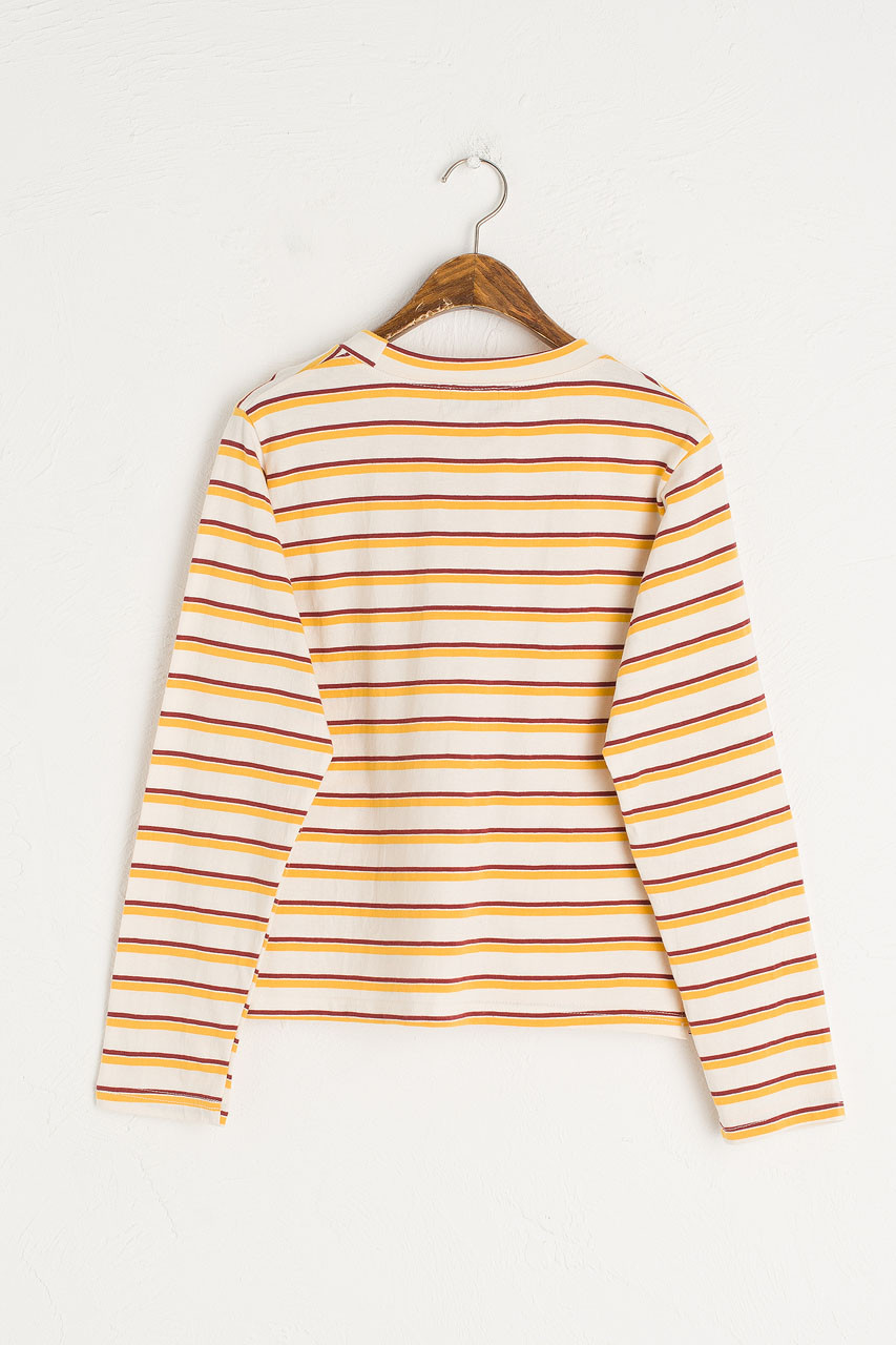 Double Stripe Long Sleeve Tee, Yellow