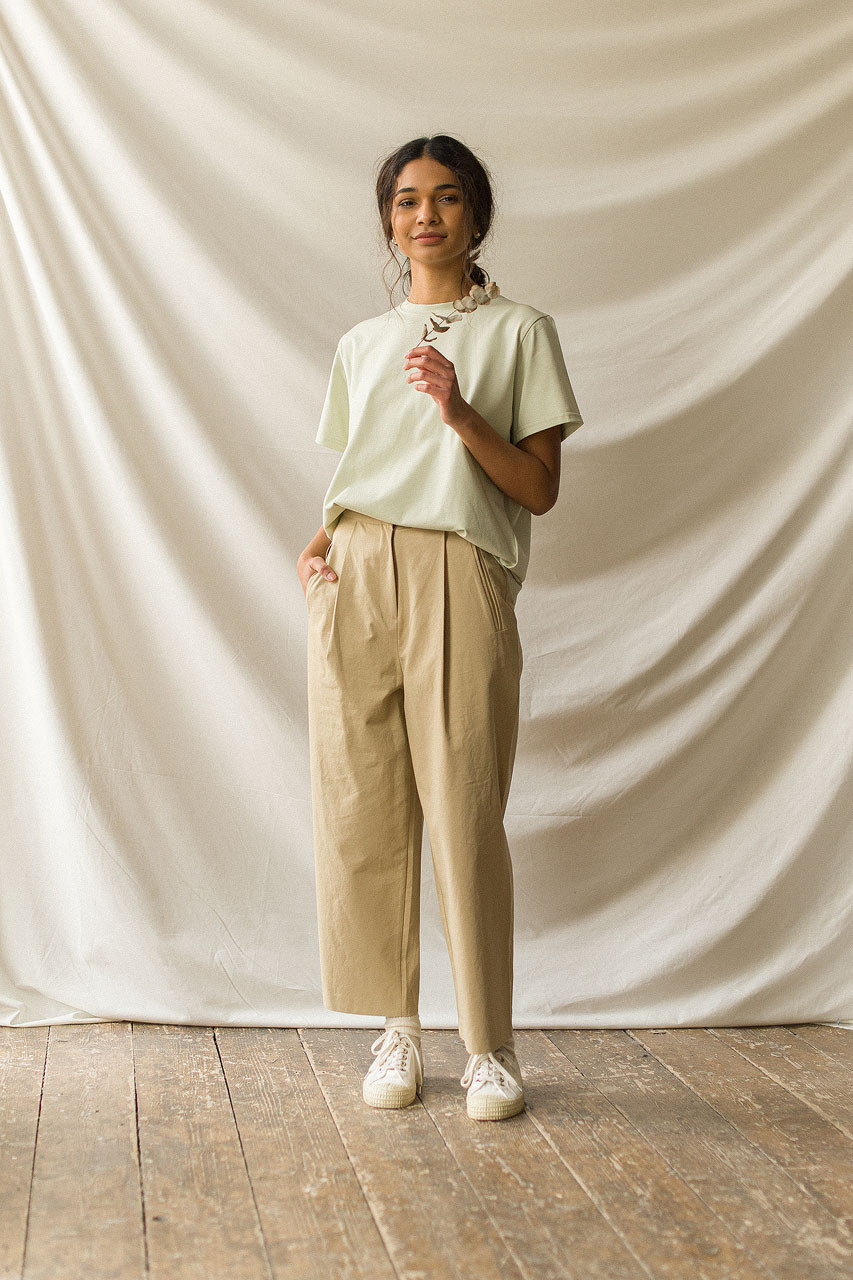 Fara Cotton Chino, Beige