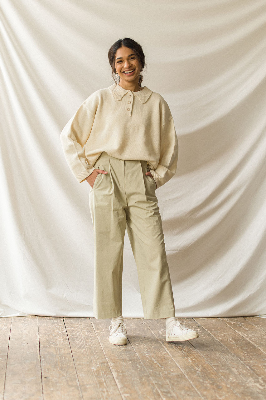 Fara Cotton Chino, Sage