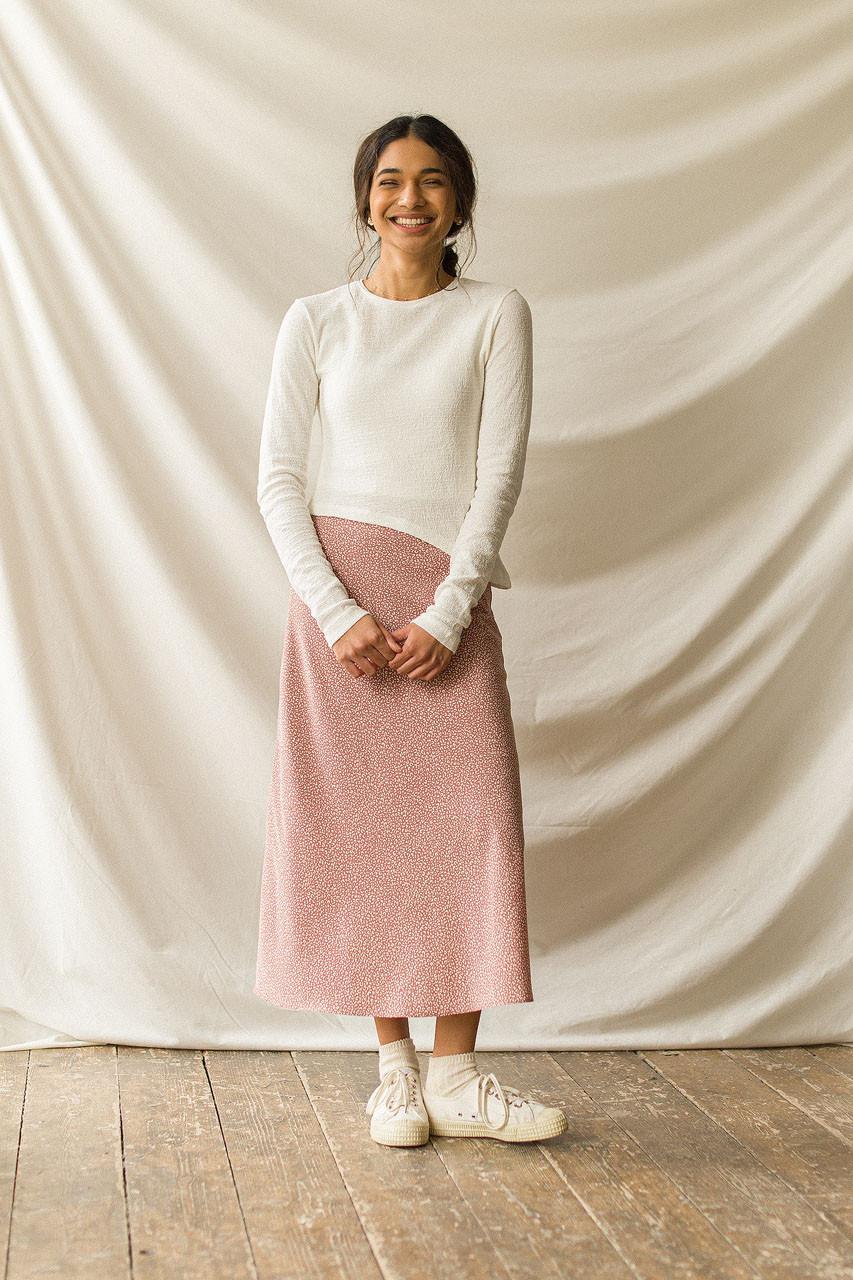 Yuha Animal Print Skirt, Rose