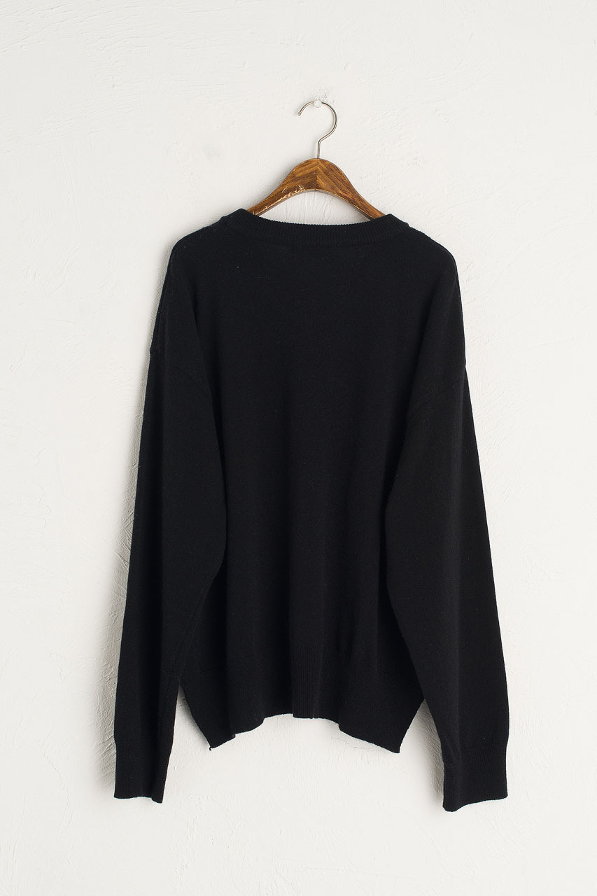 Lina Soft Boxy Jumper, Black