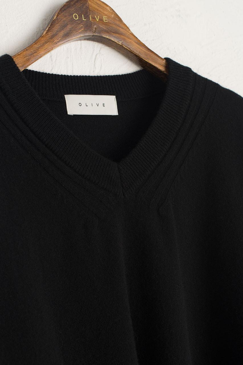 Lina Soft Boxy Jumper, Black