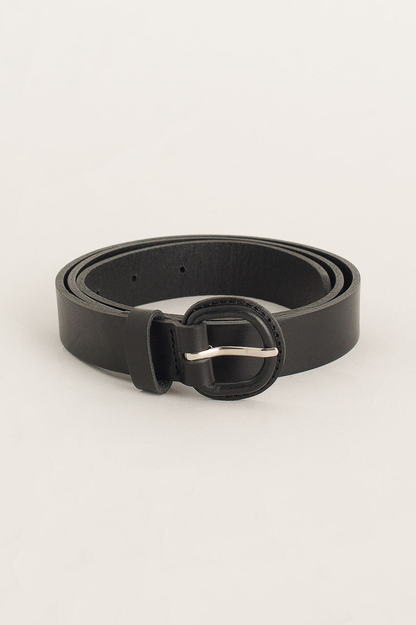 Oval Ring Belt, Black